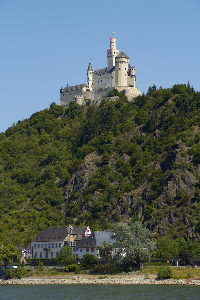 Marksburg Castle And Philippsburg Palace Monhof